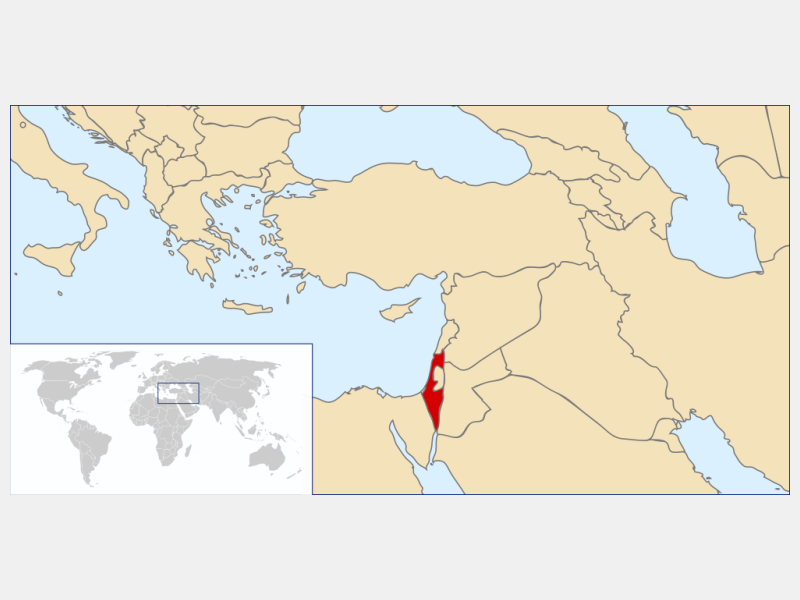 State of Israel locator map