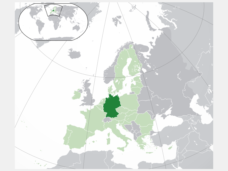 Federal Republic of Germany locator map