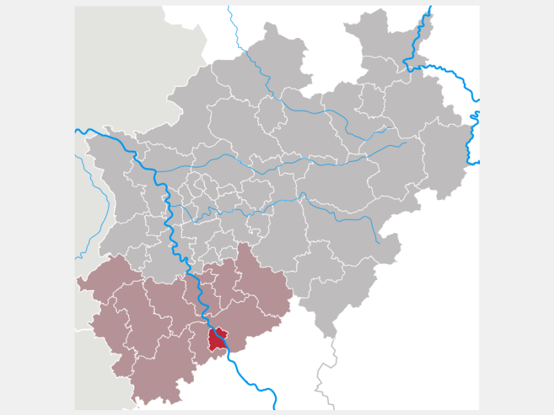 Bonn locator map