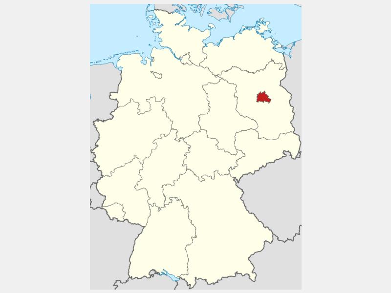 Berlin locator map