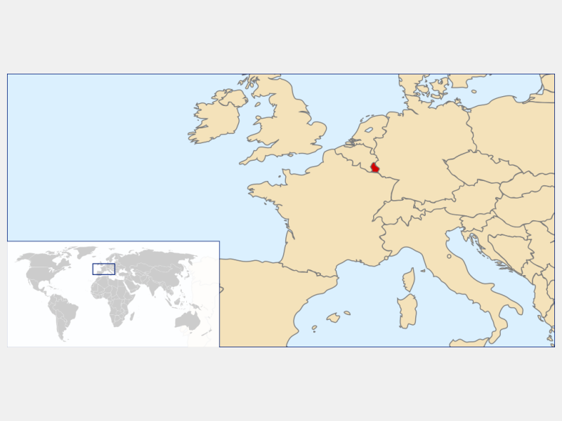 Grand Duchy of Luxembourg locator map