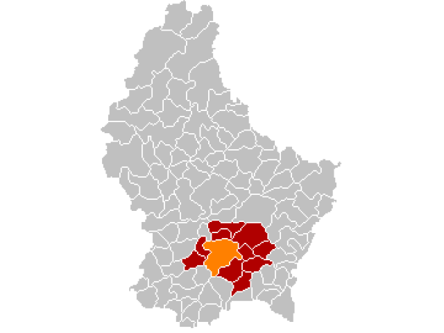 Luxembourg locator map