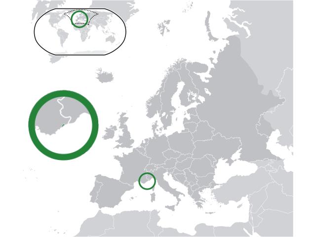 Principality of Monaco locator map