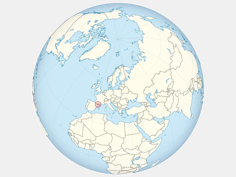 Principality of Andorra locator map