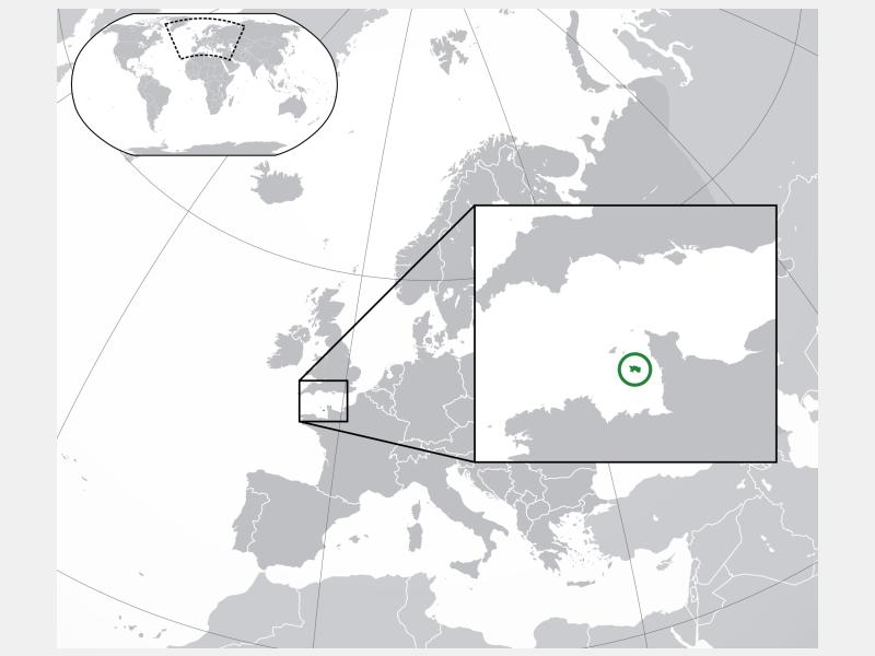 Bailiwick of Jersey locator map