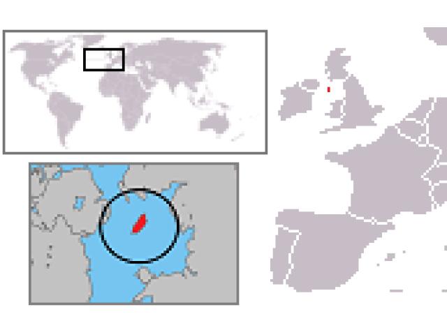 Isle of Man locator map
