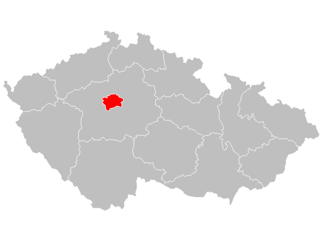 Prague locator map