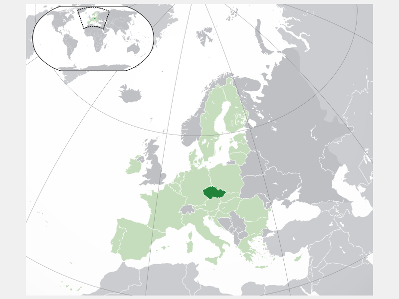 Czechia locator map