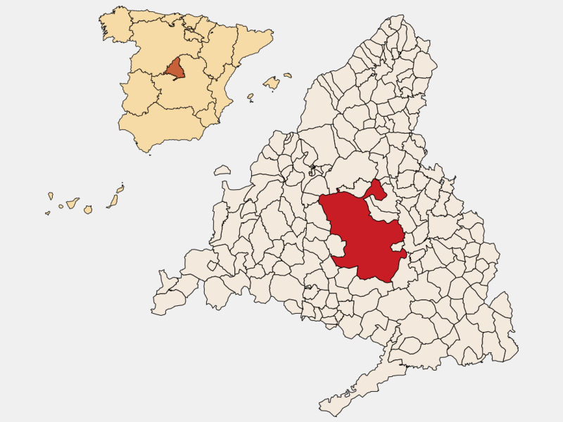 Madrid locator map