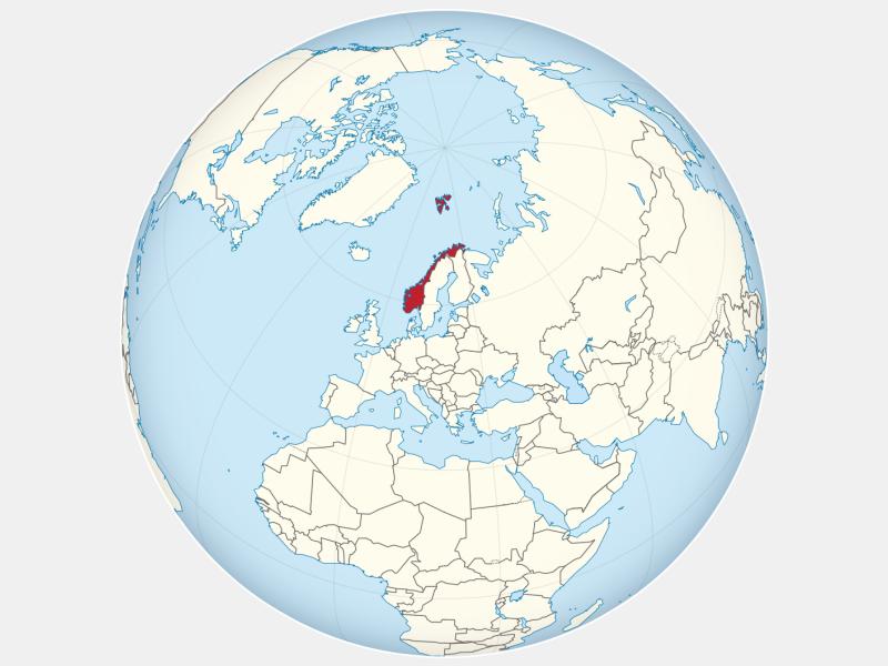 Kingdom of Norway locator map
