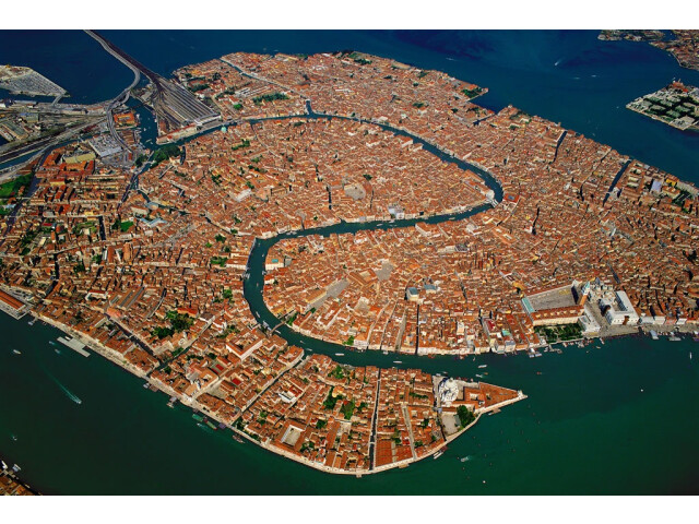 Venice Old Town Lagoon Aerial View image