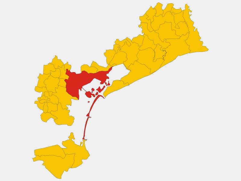 Venice locator map