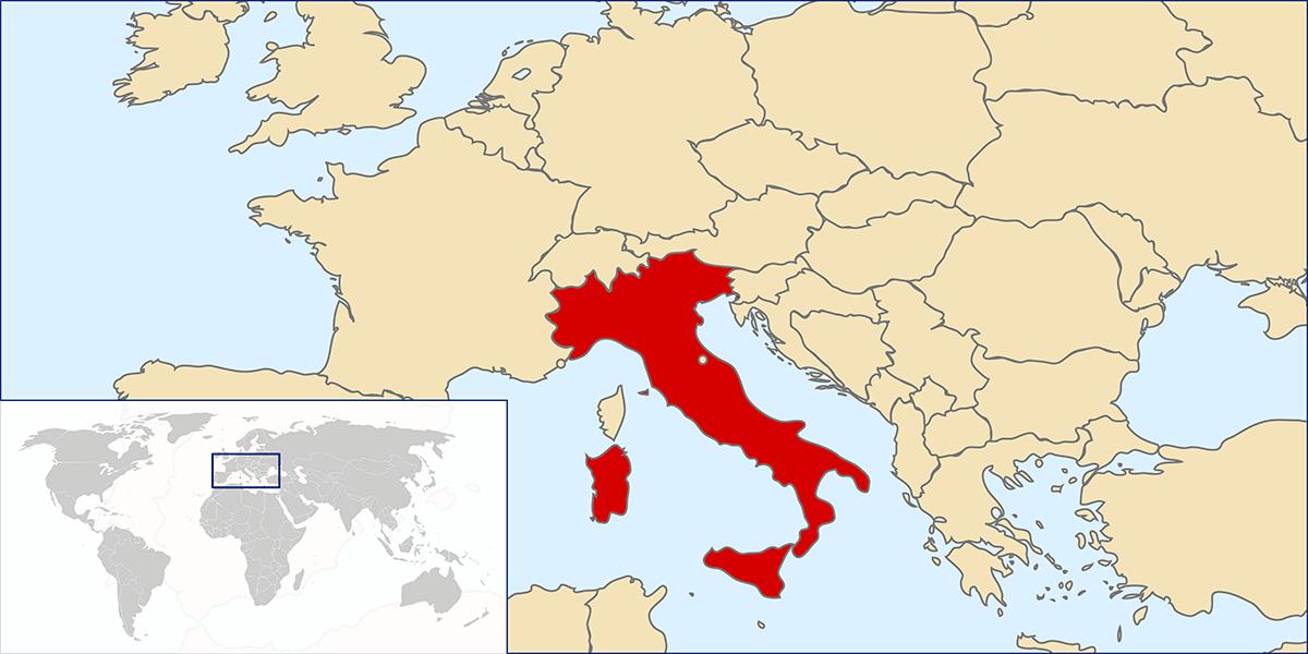 Italian Republic locator map