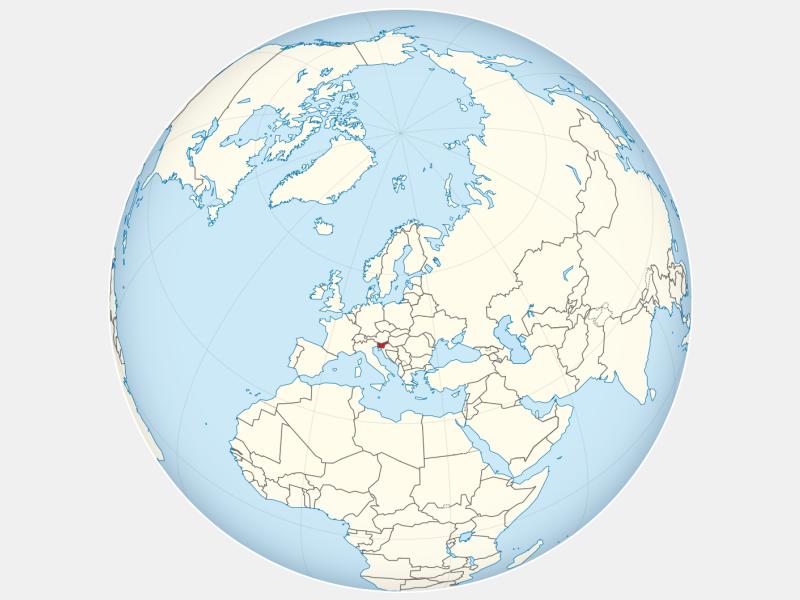 Republic of Slovenia locator map