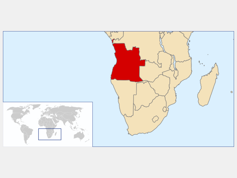 Republic of Angola locator map