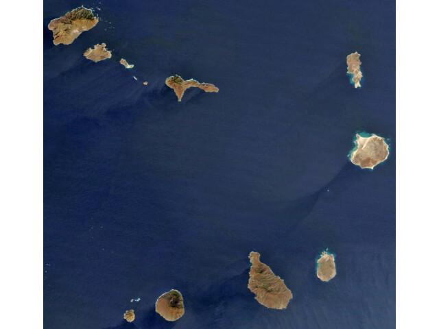 Satellite image of Cape Verde in December 2002 image