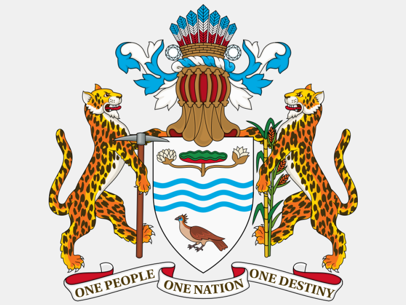 Coat of arms of Guyana coat of arms image