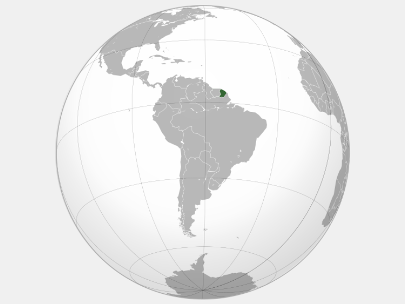 Guyane locator map