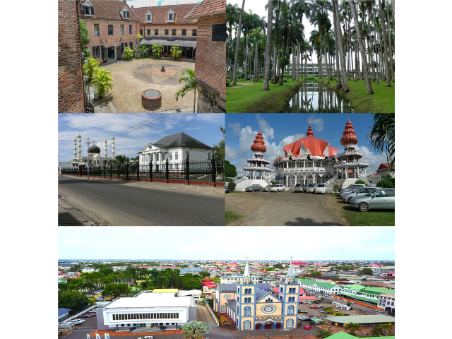 Paramaribo city collage image