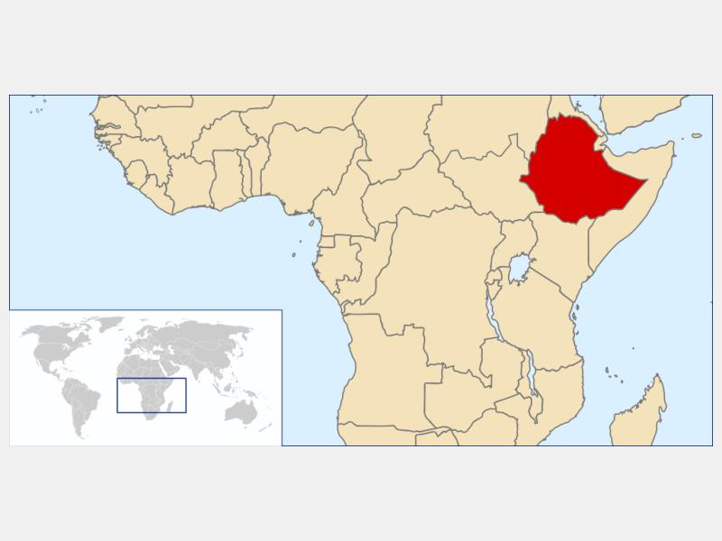 Federal Democratic Republic of Ethiopia locator map