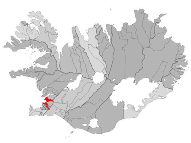 Reykjavík locator map