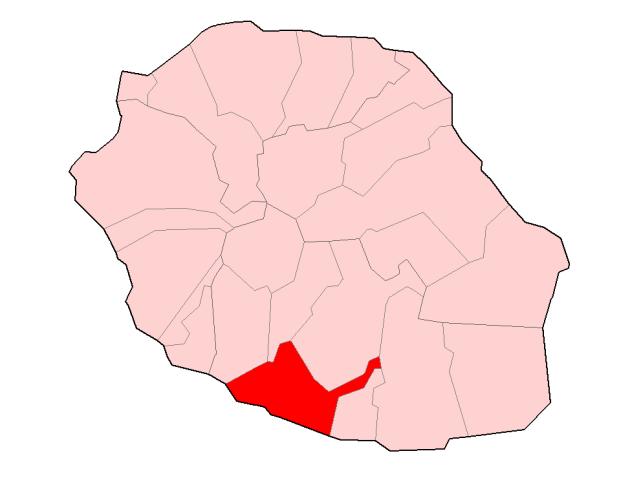 Saint-Pierre locator map