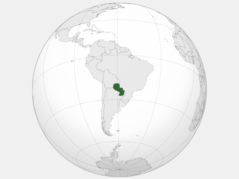 Republic of Paraguay locator map