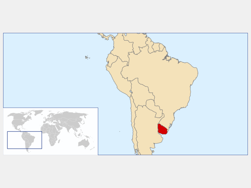 Oriental Republic of Uruguay locator map