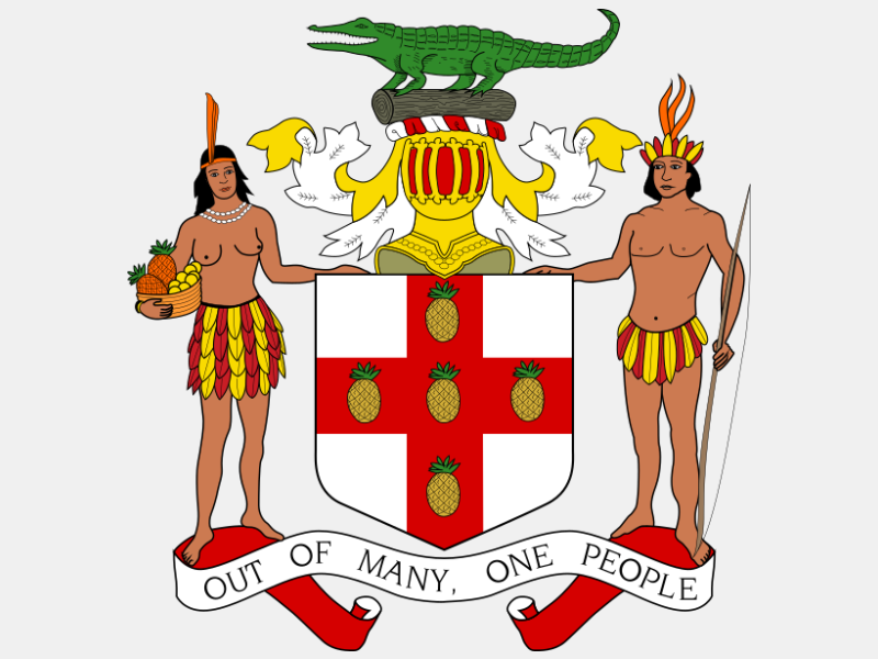 Coat of arms of Jamaica coat of arms image