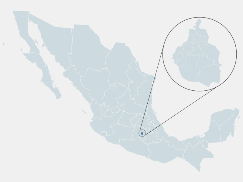 Mexico City locator map