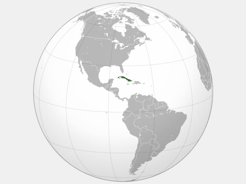 Republic of Cuba locator map