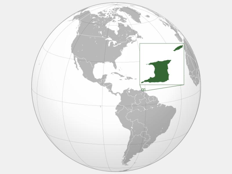 Republic of Trinidad and Tobago locator map