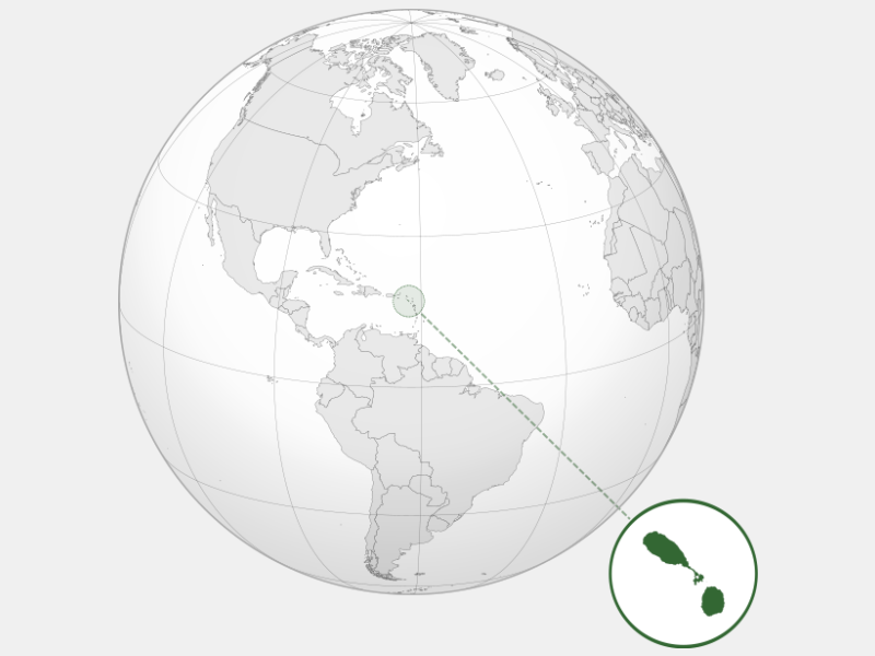 Federation of Saint Kitts and Nevis locator map