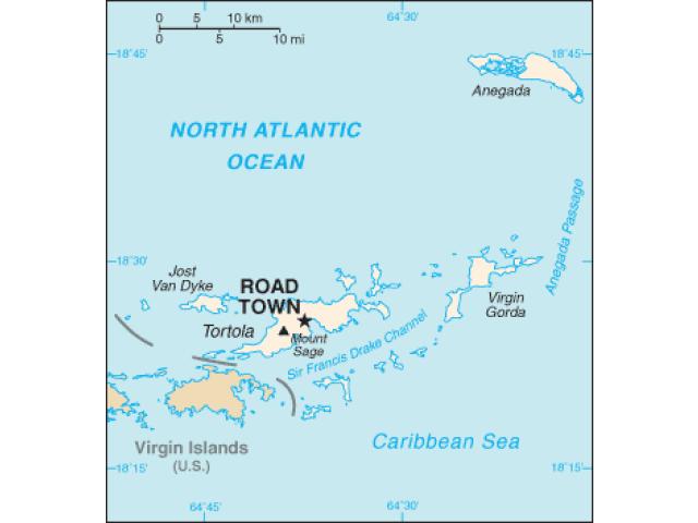 Road Town locator map