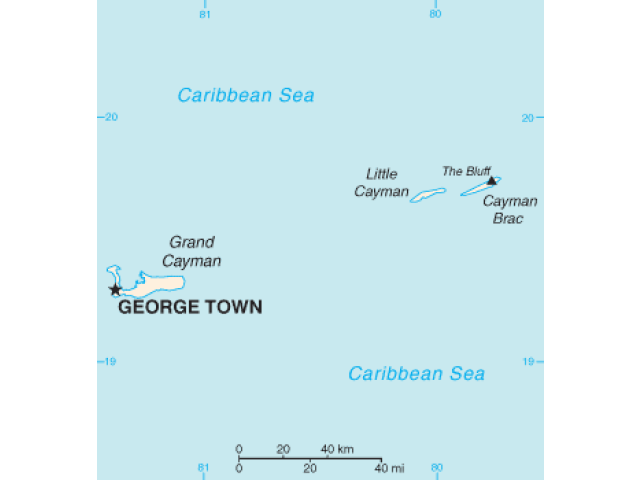 George Town locator map