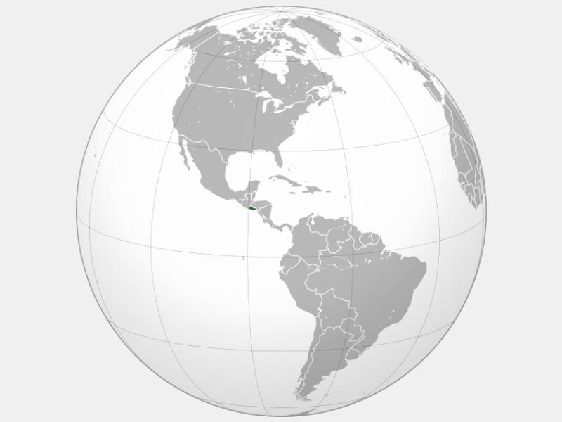 Republic of El Salvador locator map