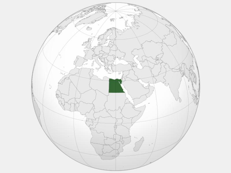 Arab Republic of Egypt locator map