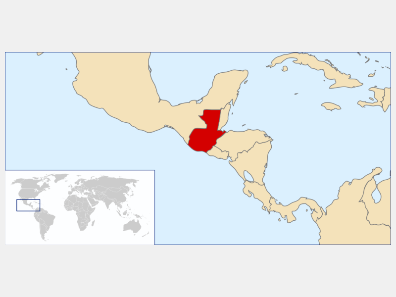 Republic of Guatemala locator map