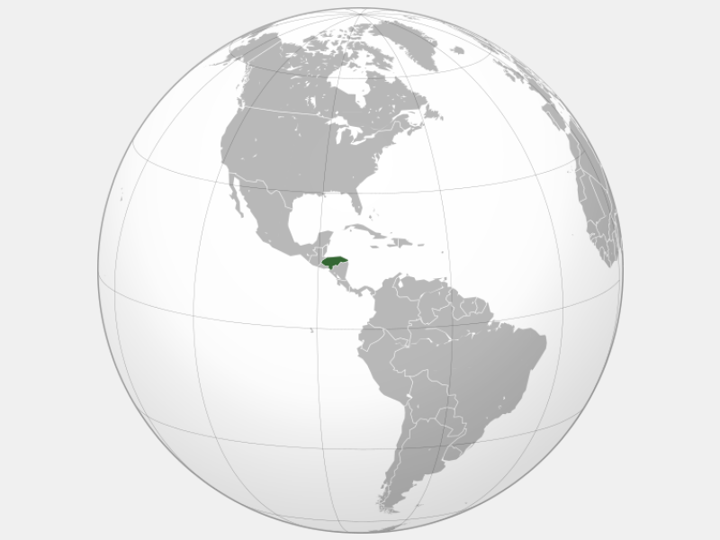 Republic of Honduras locator map