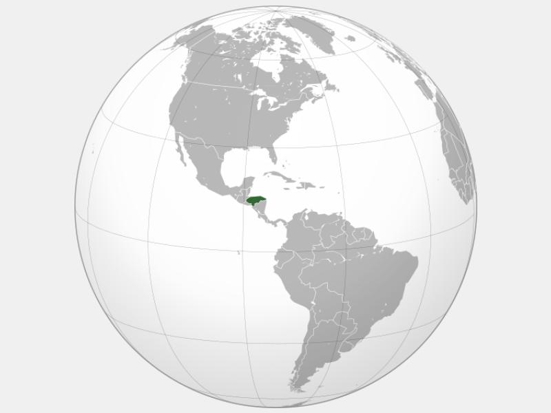 Republic of Honduras locator map