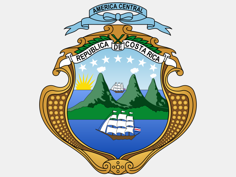 Coat of arms of Costa Rica coat of arms image