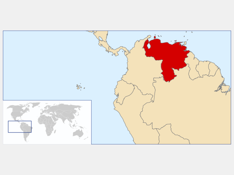 Bolivarian Republic of Venezuela locator map