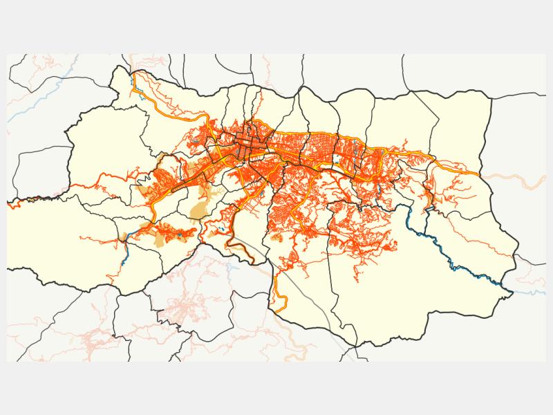 Caracas locator map