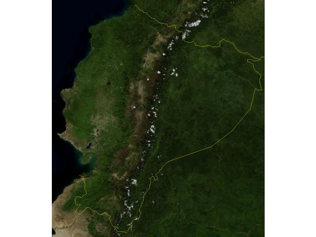 Ecuador Blue Marble image
