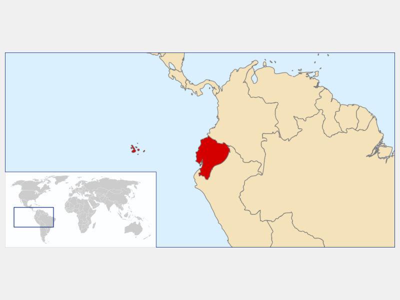Republic of Ecuador locator map