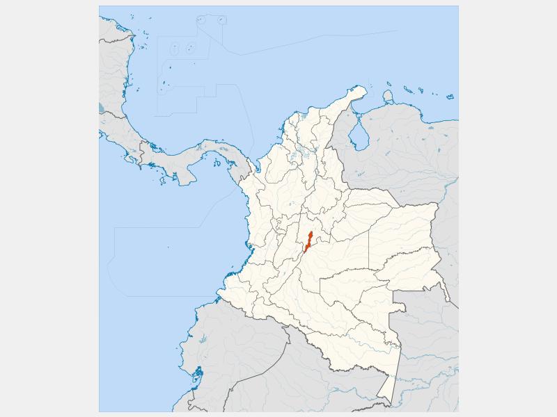 Bogotá locator map