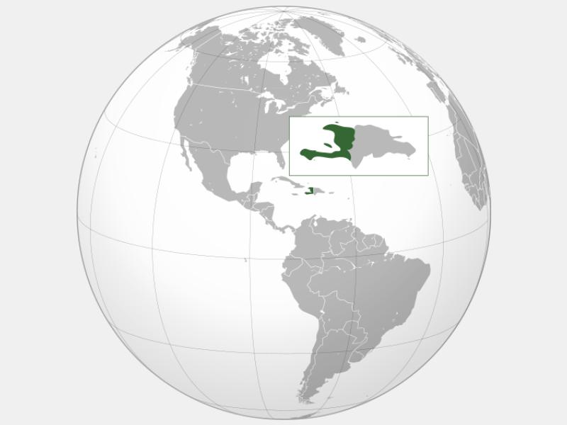 Republic of Haiti locator map