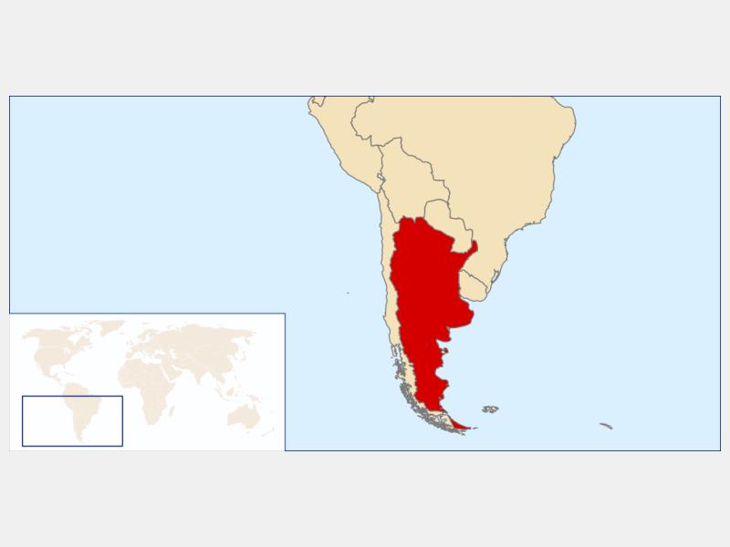 Argentine Republic locator map
