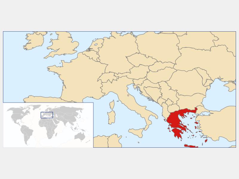 Hellenic Republic locator map