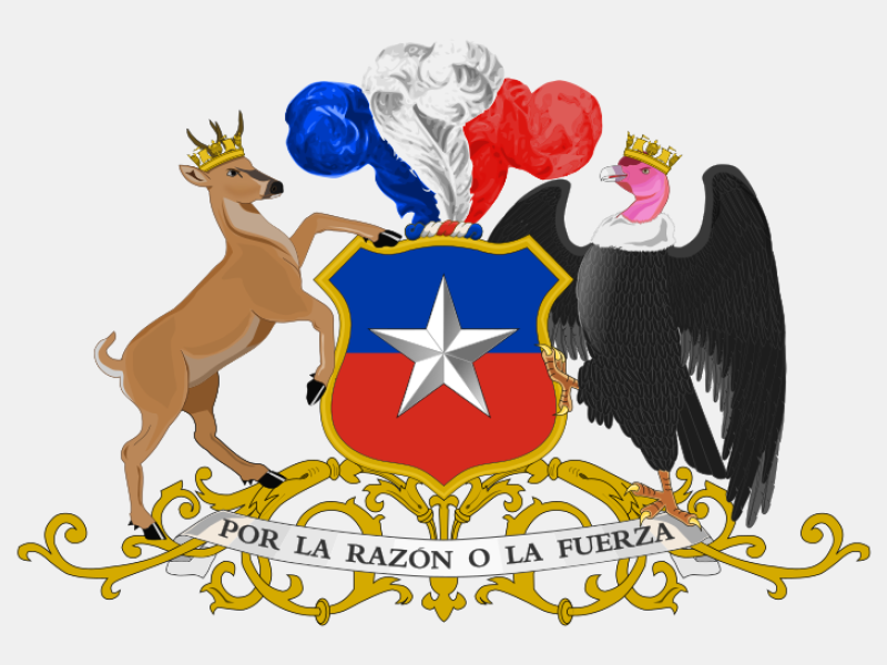 Coat of arms of Chile 'c' coat of arms image